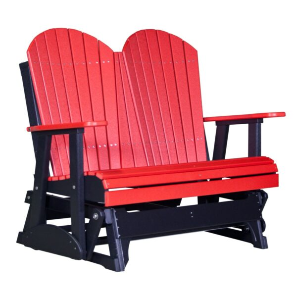 Double Adirondack Glider - Red & Black