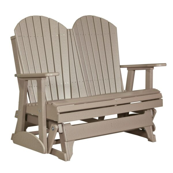 Double Adirondack Glider - Weatherwood
