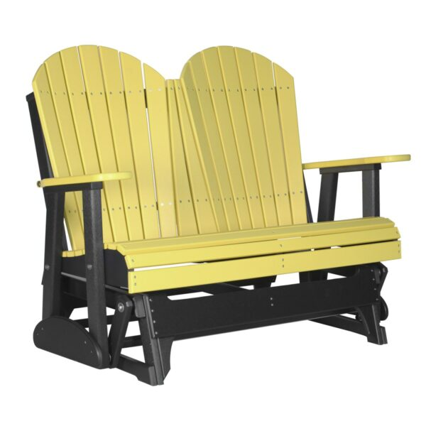 Double Adirondack Glider - Yellow & Black