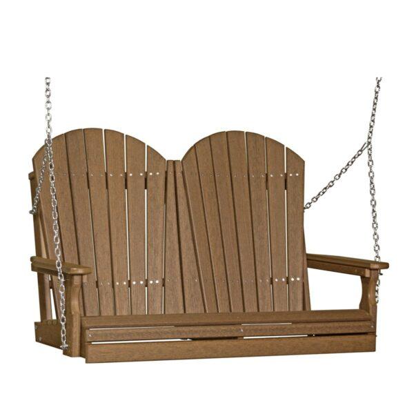 Double Adirondack Swing - Antique Mahogany