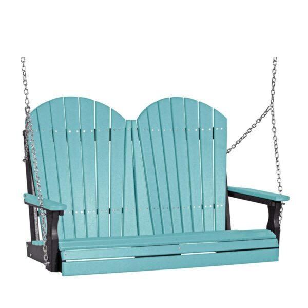Double Adirondack Swing - Aruba Blue & Black