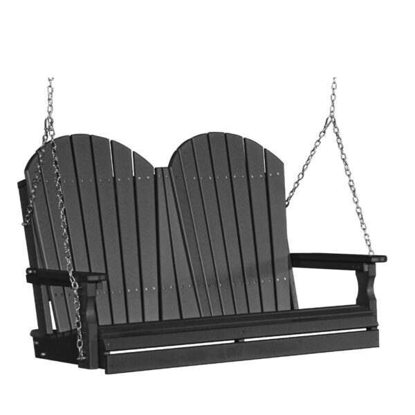 Double Adirondack Swing - Black