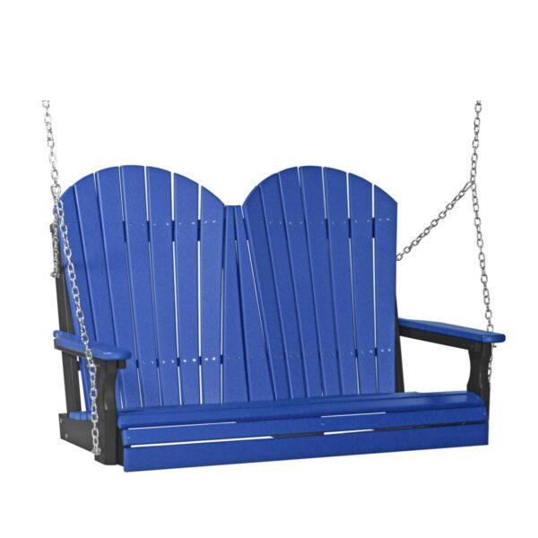 Double Adirondack Swing - Blue & Black