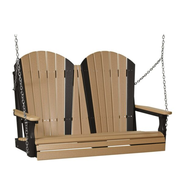 Double Adirondack Swing - Cedar & Black