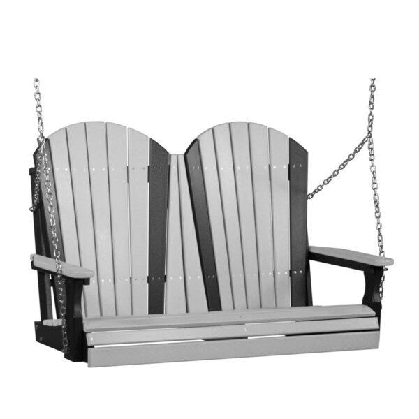 Double Adirondack Swing - Dove Gray & Black