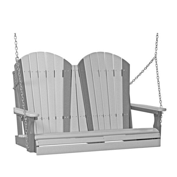 Double Adirondack Swing - Dove Gray & Slate