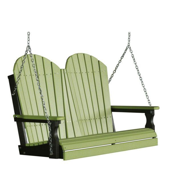 Double Adirondack Swing - Lime Green & Black