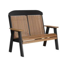 Double Classic Bench - Antique Mahogany & Black