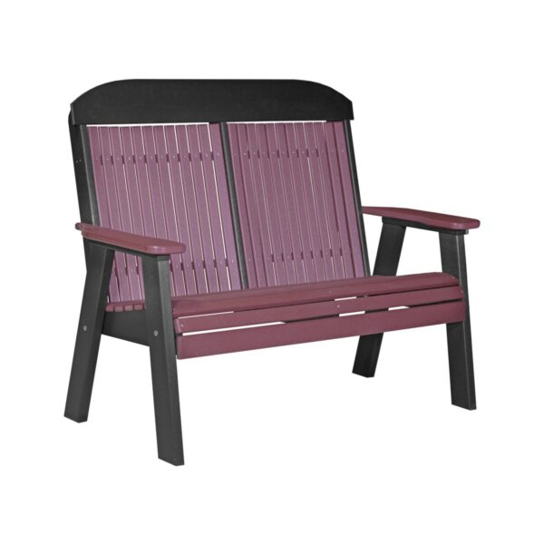 Double Classic Bench - Cherry & Black