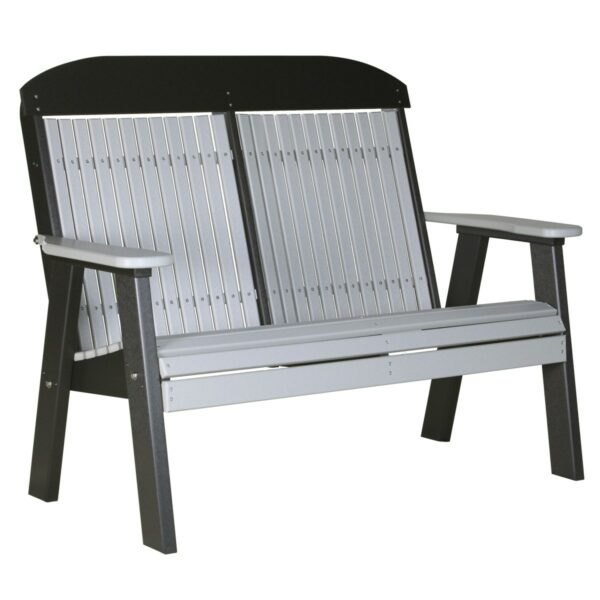 Double Classic Bench - Dove Gray & Black
