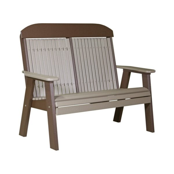 Double Classic Bench - Weatherwood & Brown