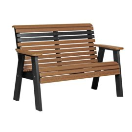 Bench - Antique Mahogany & Black