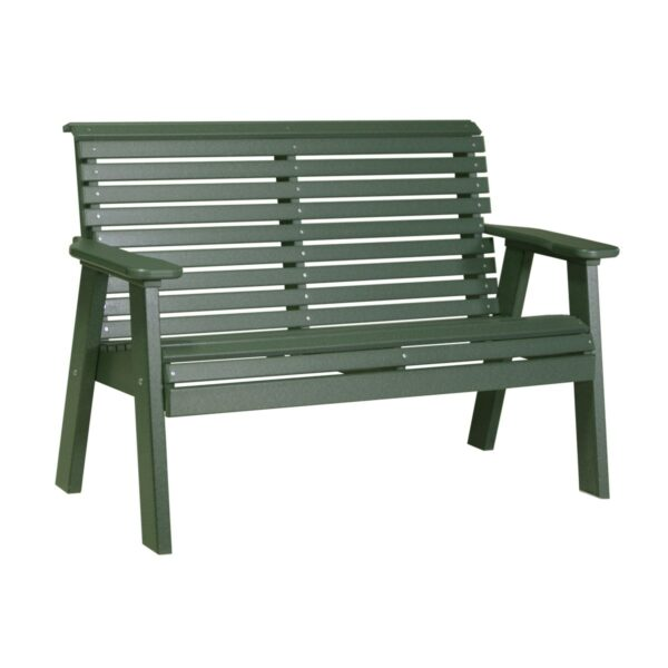 Double Plain Bench - Green