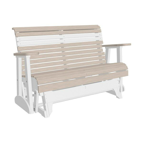 Double Plain Glider - Birch & White
