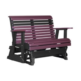 Double Plain Glider - Cherry & Black