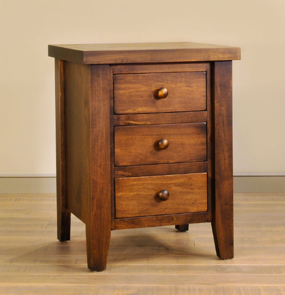Farmhouse 3-Drawer Nightstand