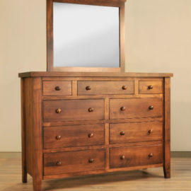 Farmhouse 9-Drawer Dresser & Mirror