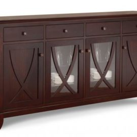 Florence 4-Drawer 4-Door Sideboard with 2-Centre Glass Doors