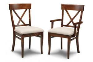 Florence X-Back Dining Chair (Side & Arm)