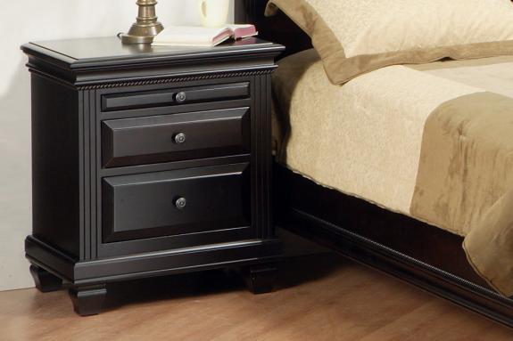 Florentino 2-Drawer Nightstand with Pullout Shelf