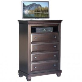 Florentino 4-Drawer TV Highboy Chest