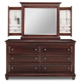 Florentino 6-Deep Drawer Dresser & Jewellery Mirror