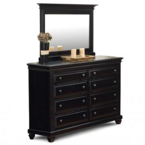 Florentino 8-Drawer High Dresser & Mirror