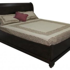 Florentino Sleigh Bed with Boat Footboard (Queen)