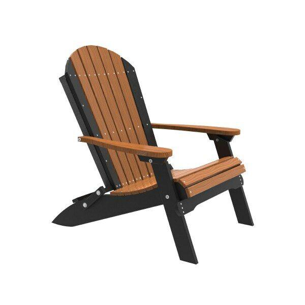 Folding Adirondack Chair - Antique Mahogany & Black