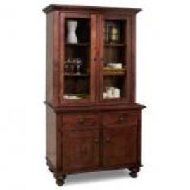 Georgetown 2-Door Buffet & Hutch with Wood Shelves