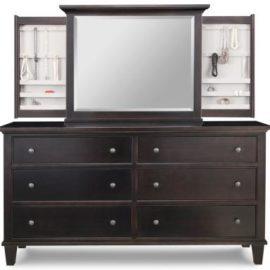 Georgetown 6-Drawer Long Dresser & Jewellery Mirror