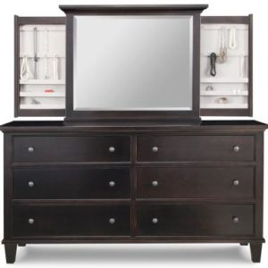 Georgetown 6-Drawer Long Dresser & Jewellery Mirror