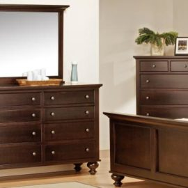 Georgetown 8-Drawer Long High Dresser & Mirror