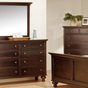Georgetown 8-Drawer Long High Dresser & Mirror