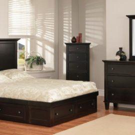 Georgetown Condo Bedroom Set with Tapered Legs (Queen)