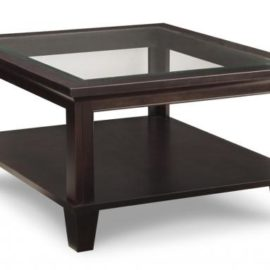 Georgetown Square Coffee Table with Glass Top