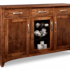 Glengarry 3-Drawer 3-Door Sideboard with Centre Glass Door