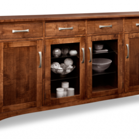 Glengarry 4-Drawer 4-Door Sideboard with 2-Centre Glass Doors