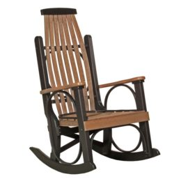 Grandpa Rocker - Antique Mahogany & Black