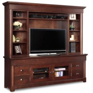 "Hudson Valley 84"" TV Stand with Hutch"