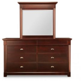 Hudson Valley 8-Deep Drawer Dresser & Mirror