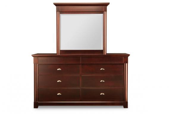 Hudson Valley 8-Deep Drawer Dresser & Mirror