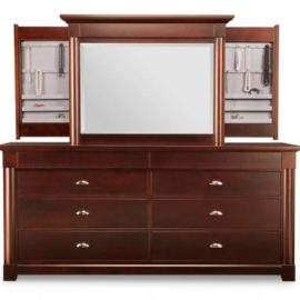 Hudson Valley 8-Drawer Long Dresser & Jewellery Mirror
