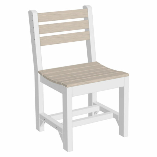 Island Dining Chair - Birch & White