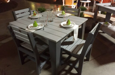 Island Dining Set in Dove Gray & Slate