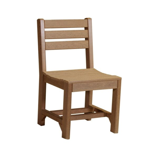 Island Side Chair (Dining Height Shown) - Antique Mahogany