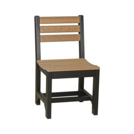 Island Side Chair (Dining Height Shown) - Antique Mahogany & Black