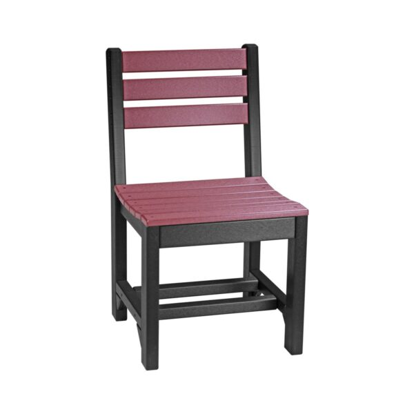 Island Side Chair (Dining Height Shown) - Cherry & Black