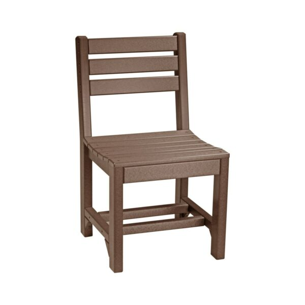 Island Side Chair (Dining Height Shown) - Chestnut Brown