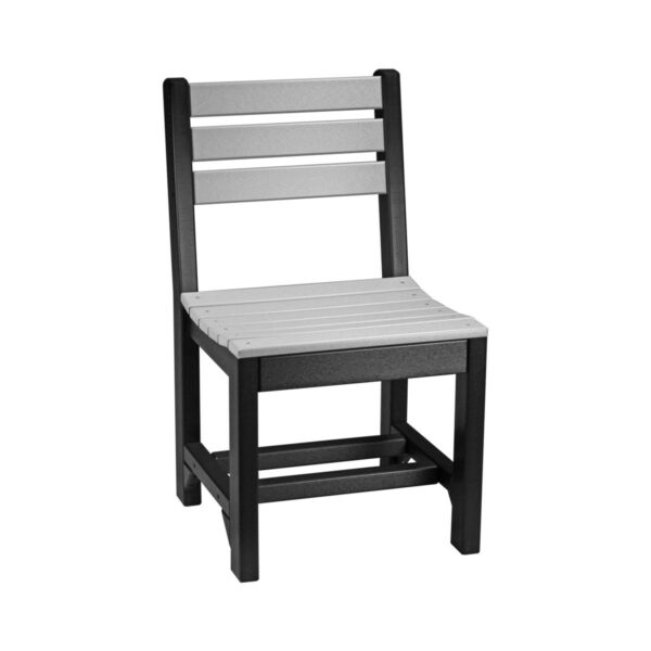 Island Side Chair (Dining Height Shown) - Dove Gray & Black